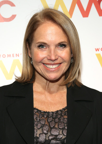 Katie Couric Bob [hair,hairstyle,blond,chin,premiere,layered hair,smile,long hair,hair coloring,feathered hair,arrivals,katie couric,womens media awards,capitale,new york city]