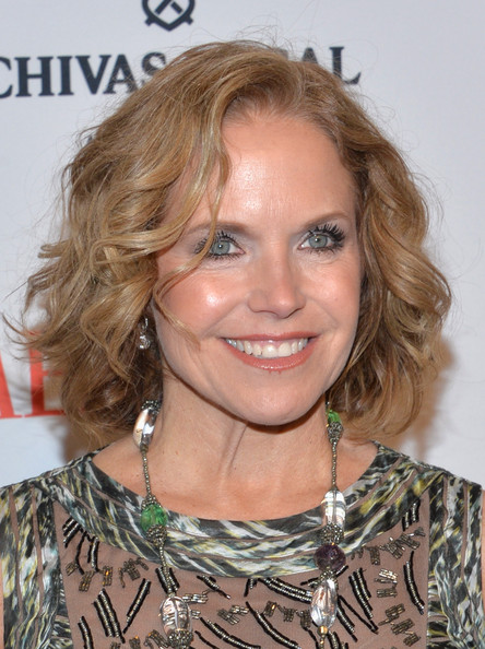 Katie Couric Curled Out Bob [hair,face,hairstyle,blond,eyebrow,chin,brown hair,long hair,ringlet,lip,arrivals,katie couric,people,time 100 gala,jazz,world,new york city,lincoln center,time]