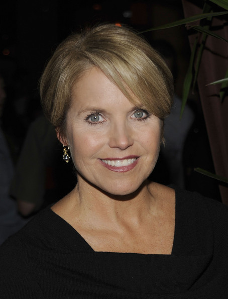 Katie Couric Short Side Part [hair,face,hairstyle,blond,eyebrow,chin,lip,beauty,bob cut,bangs,katie couric,12th annual project a.l.s.,benefit,tomorrow is tonight,new york city,lucky strike lanes lounge]