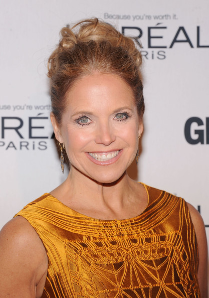 Katie Couric Pinned Up Ringlets