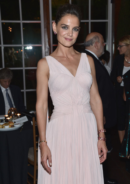 Katie Holmes Gemstone Bracelet [the giver,dress,clothing,fashion,fashion model,cocktail dress,beauty,hairstyle,shoulder,blond,haute couture,katie holmes,new york city,party,premiere,new york premiere,party]