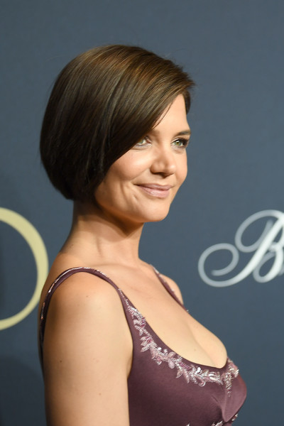 Katie Holmes Bob [hair,hairstyle,face,chin,beauty,brown hair,shoulder,bob cut,blond,layered hair,katie holmes,brooks brothers bicentennial celebration at jazz at lincoln center,new york city,jazz at lincoln center]