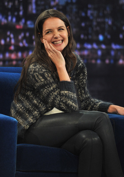 More Pics of Katie Holmes Leather Pants (1 of 14) - Katie Holmes Lookbook - StyleBistro