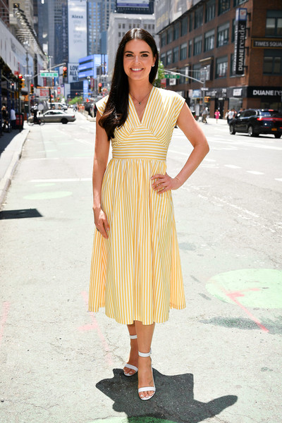 Katie Lee Strappy Sandals [katie lee,extra,clothing,dress,yellow,photograph,street fashion,fashion model,fashion,snapshot,footwear,shoulder,new york city]