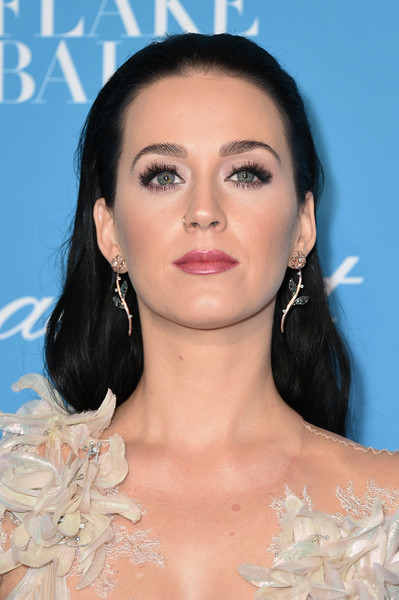 Katy Perry Dangling Gemstone Earrings [hair,face,eyebrow,hairstyle,lip,skin,chin,beauty,eyelash,nose,katy perry,cipriani wall street,new york city,unicef,snowflake ball]