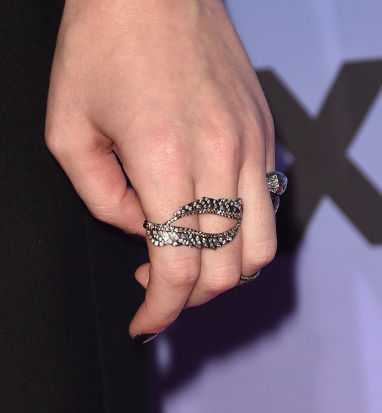 Katy Perry Statement Ring [finger,hand,ring,skin,nail,body jewelry,wrist,jewellery,fashion accessory,engagement ring,katy perry,arrivals,screening,fashion detail,ace hotel downtown la,california,los angeles,the theatre,epix,katy perry: the prismatic world tour]