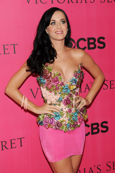 Katy Perry Mini Skirt [clothing,fashion model,dress,shoulder,hairstyle,fashion,cocktail dress,thigh,long hair,premiere,carpet arrivals,katy perry,new york city,lexington avenue armory,victorias secret fashion show]