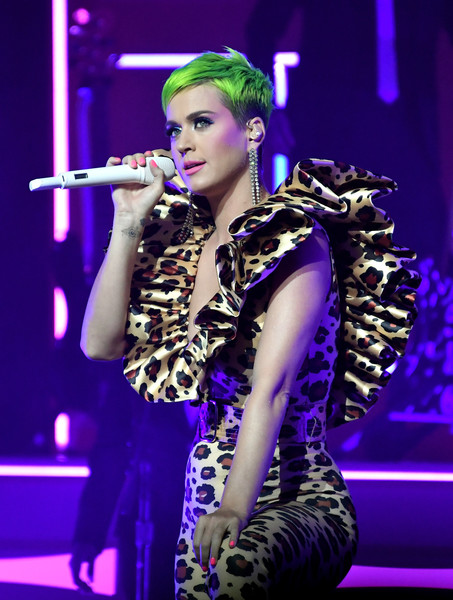 Katy Perry Pink Nail Polish [katy perry,music artist,performance,singer,entertainment,purple,performing arts,singing,event,pop music,stage,the theatre,ace hotel,los angeles,california,citi sound vault presents,citi sound vault]