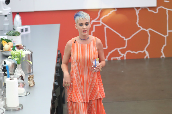 Katy Perry Loose Top [witness,orange,fashion,fun,dress,visual arts,fashion design,temple,art,world,peach,katy perry: witness world wide,katy perry,katy perry hosts,fans,you tube in support of witness album launch,sneak peek,channel,world,event]