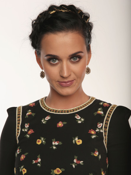 Katy Perry Braided Updo [portraits,portrait,hair,hairstyle,eyebrow,beauty,forehead,lip,chin,black hair,neck,fashion,katy perry,california,los angeles,nokia theatre l.a. live,peoples choice awards]