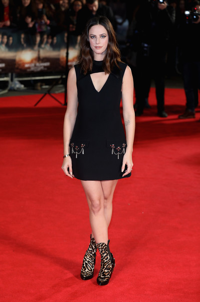 Kaya Scodelario Cutout Dress [the death cure,fashion model,red carpet,carpet,clothing,fashion,dress,flooring,premiere,little black dress,footwear,kaya scodelario,uk,vue west end,england,london,red carpet arrivals,fan screening,fan screening]