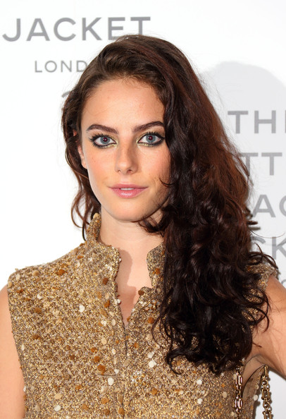 Kaya Scodelario Side Sweep [chanel: the little black jacket,hair,hairstyle,face,eyebrow,brown hair,long hair,beauty,hair coloring,ringlet,chin,kaya scodelario,the little black jacket - private view,view,england,london,saatchi gallery,chanel]