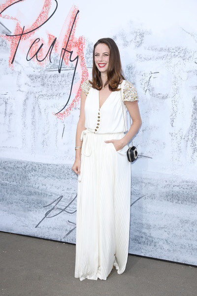 Kaya Scodelario Jumpsuit [white,clothing,dress,shoulder,fashion,gown,beauty,fashion model,joint,waist,arrivals,kaya scodelario,london,england,the serpentine gallery,serpentine summer party]