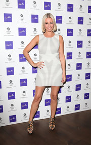 Denise van Outen rocked a pair of gladiator heels at the Cadbury Dairy Milk Keep Singing campaign.