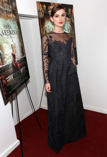 Keira Knightley Evening Dress [anna karenina,dress,clothing,carpet,red carpet,flooring,premiere,fashion,gown,shoulder,fashion model,keira knightley,new york,florence gould hall,premiere,new york special screening]