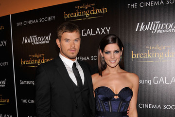 "Kellan Lutz Ashley Greene The Cinema Society With The Hollywood Reporter And Samsung Galaxy Host A Screening Of ""The Twilight Saga: Breaking Dawn Part 2"" - Arrivals"