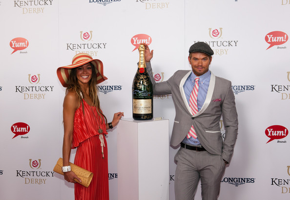 "Moet & Chandon ""Sign For The Roses"", On The Red Carpet At The 138th Kentucky Derby At Churchill Downs"