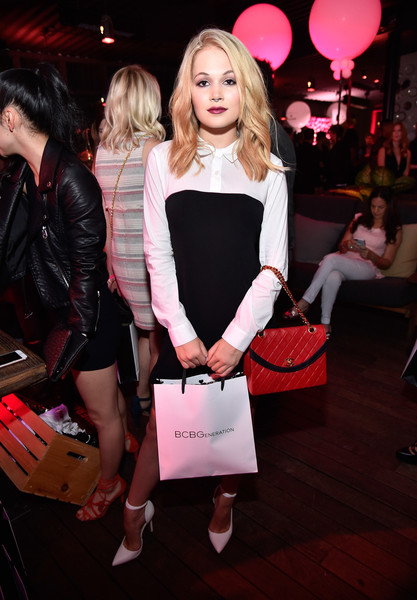 Kelli Berglund Pumps [pink,fashion,beauty,lady,event,lip,blond,dress,footwear,premiere,kelli berglund,nylon,west hollywood,california,young hollywood party,bcbgeneration,hyde sunset: kitchen cocktails]