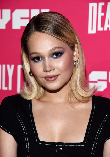 Kelli Berglund Sterling Hoops [deadly class premiere screening - arrivals,series,deadly class,hair,face,hairstyle,blond,eyebrow,chin,beauty,lip,forehead,brown hair,series,kelli berglund,west hollywood,california,the roxy theatre,syfy,premiere screening]
