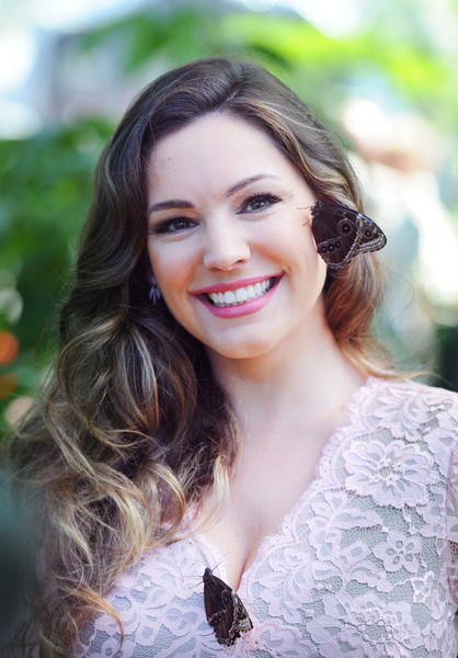 Kelly Brook Long Curls [rhs hampton court flower show,hair,face,photograph,lip,skin,facial expression,hairstyle,beauty,lady,smile,kelly brook,butterflies,england,london,hampton court palace,launch,launch]