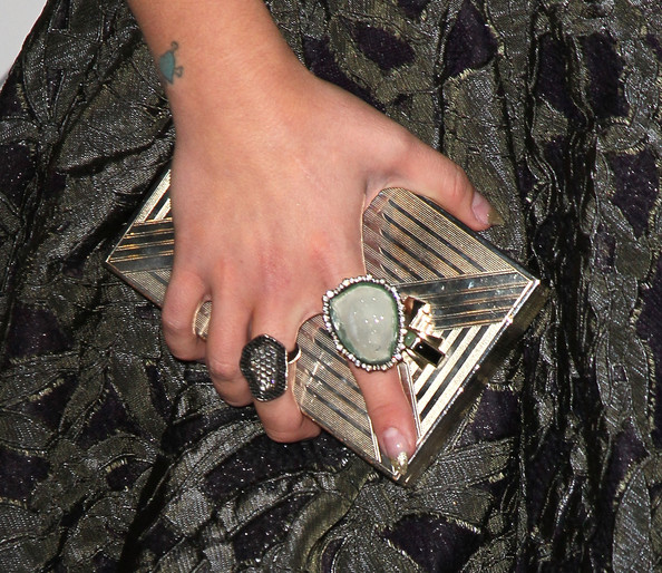 Kelly Osbourne Cocktail Ring [hand,fashion accessory,finger,ring,silver,jewellery,wrist,nail,rock,body jewelry,arrivals,kelly osbourne,ring detail,purse,heaven,2nd street tunnel,california,art of elysium,art of elysium,gala]
