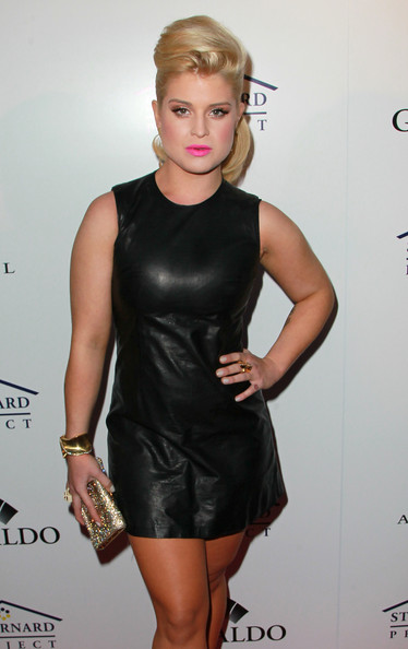 Kelly Osbourne Leather Dress