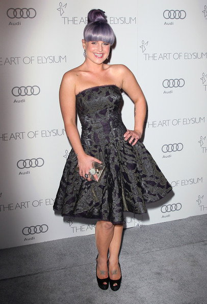 Kelly Osbourne Strapless Dress