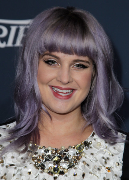 Kelly Osbourne Medium Wavy Cut with Bangs