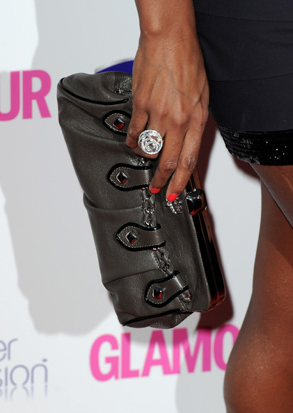Kelly Rowland Cocktail Ring [fashion,arm,joint,footwear,magenta,hand,leg,leather,jeans,muscle,arrivals,kelly rowland,glamour women of the year awards,london,england,2010 glamour women of the year awards]