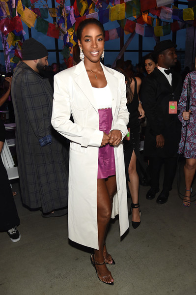 Kelly Rowland Trenchcoat [shows,the shows,fashion,event,suit,fashion design,outerwear,formal wear,style,prabal gurung,prabal gurung - front row,kelly rowland,front row,gallery i,new york city,spring studios,new york fashion week]