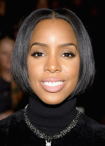 Kelly Rowland Bob [hair,face,eyebrow,hairstyle,lip,black hair,forehead,chin,beauty,cheek,kelly rowland,kaufmanfranco show,front row,new york city,lincoln center,the theatre,fashion show,mercedes-benz fashion week]