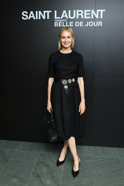 Kelly Rutherford Little Black Dress [belle de jour,clothing,dress,little black dress,shoulder,fashion,footwear,cocktail dress,photography,fashion model,shoe,saint laurent presents,kelly rutherford,new york city,museum of modern art,50th anniversary screening]