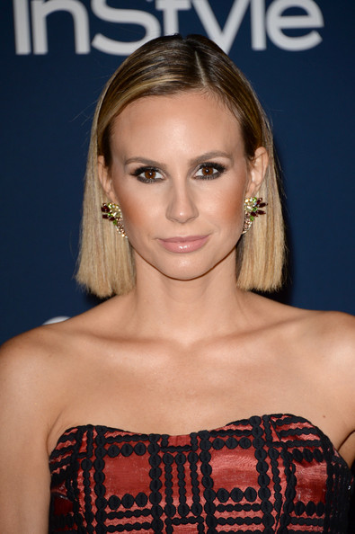Keltie Knight Side Parted Straight Cut