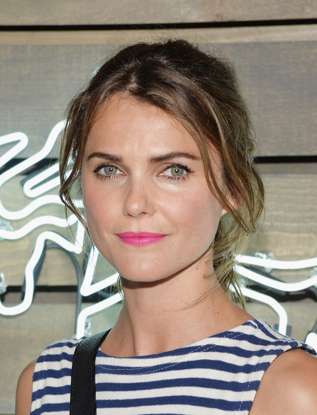 Keri Russell Ponytail [hair,face,hairstyle,eyebrow,lip,blond,beauty,chin,shoulder,forehead,coach,keri russell,new york city,the highline,friends of the highline,summer party]
