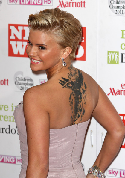 Kerry Katona Artistic Design Tattoo