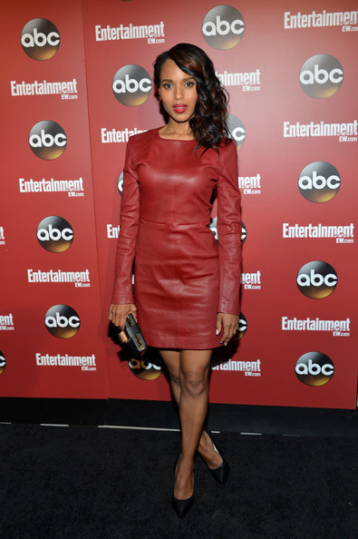 Kerry Washington Leather Dress