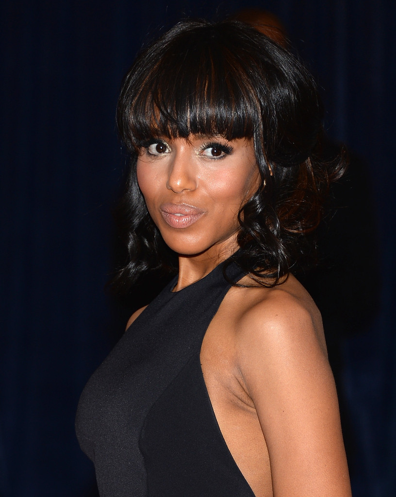 kerry washington shoulder length hairstyles - kerry washington