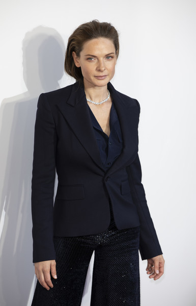Rebecca Ferguson teamed a fitted black blazer with sparkly pants for the gala screening of 'The Kid Who Would Be King.'