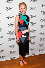 AnnaSophia chose this printed frock for her fun and whimsical look while out in Santa Monica.