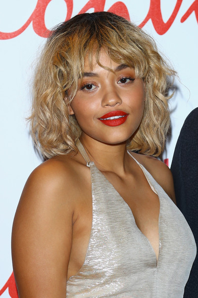 Kiersey Clemons Messy Cut [hair,hairstyle,blond,lip,chin,ringlet,layered hair,long hair,brown hair,feathered hair,kiersey clemons,convivio 2016,photocall,milan,italy,photocall]