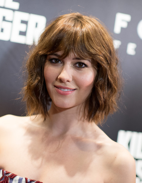 Mary Elizabeth Winstead attended the New York screening of 'Kill the Messenger' wearing this edgy wavy 'do.