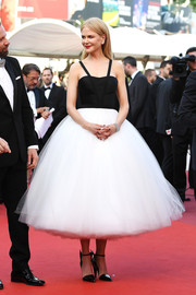 Nicole Kidman was a charmer at the Cannes Film Festival premiere of 'The Killing of a Sacred Deer' in a black-and-white Calvin Klein By Appointment cocktail dress with a cloud-like skirt.