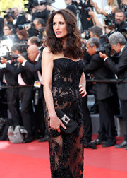 Andie MacDowell accessorized with an elegant bejeweled clutch by Roger Vivier at the Cannes Film Festival premiere of 'The Killing of a Sacred Deer.'