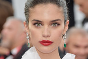 Sara Sampaio Red Lipstick