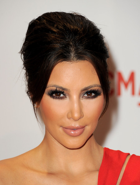kim kardashian without makeup and weave. From makeup application tips