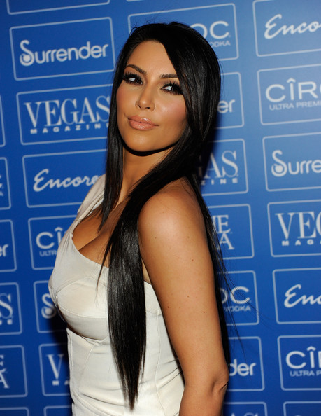 kim kardashian hair straight. Kim Kardashian Hair