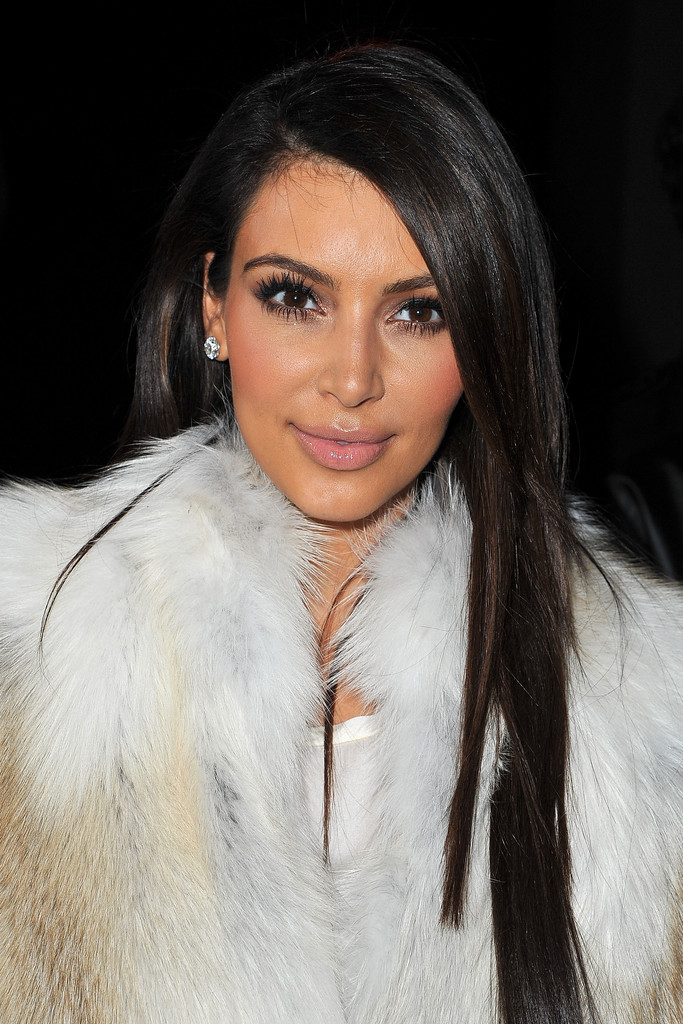 kim kardashian long straight cut kim kardashian hair