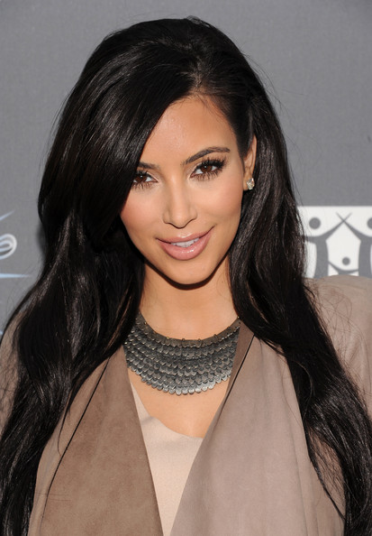 Kim Kardashian Silver Statement Necklace