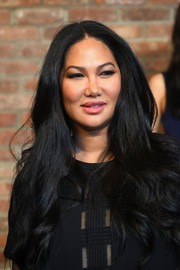 Kimora Lee Simmons looked gorgeous with her long lush hair during her label's presentation.