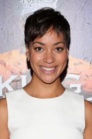 Cush Jumbo sported a casual pixie at the Broadway opening of 'King Charles III.'